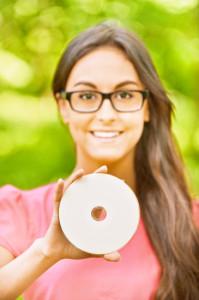Frau mit Disc